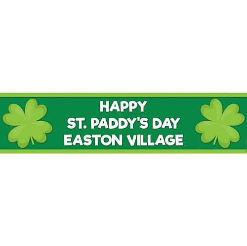 Lucky Shamrocks Personalised Banner - 1.2m