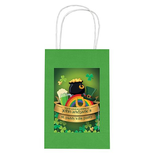 Personalised St. Patrick's Day Paper Party Bags - Pack of 4