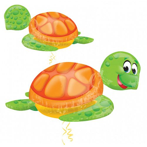Silly Sea Turtle Supershape Foil Balloon - 79cm