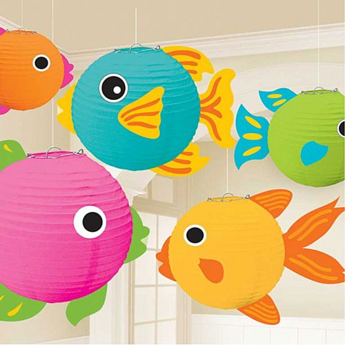 Fish Lanterns - Pack Of 5