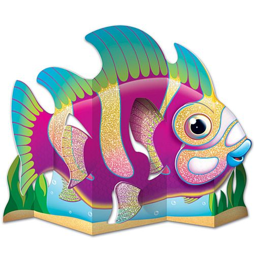 3-D Glittered Fish Centerpiece - 33cm