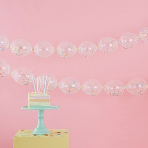 "Confetti Link Balloon Garland Decoration - 5"" - Pack of 24"