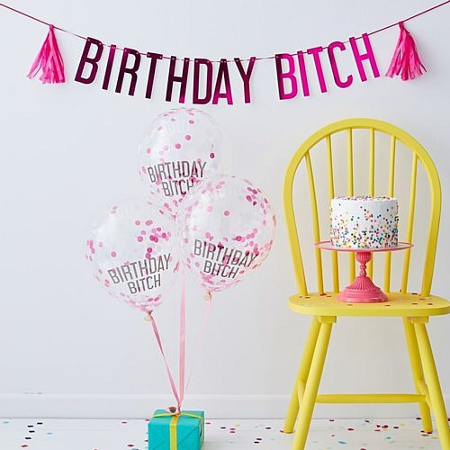 Birthday Bitch Balloons and Bunting Pack