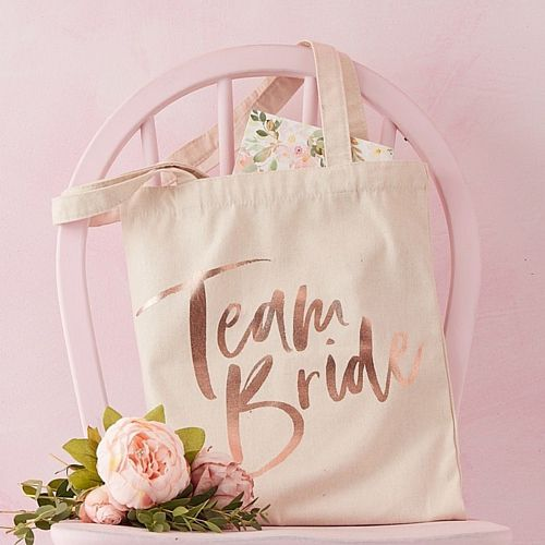 Team Bride Printed Tote Bag - 31cm - Each
