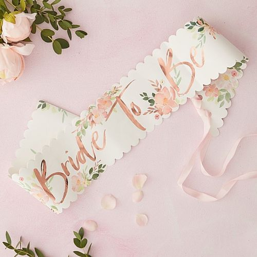 Floral Hen Party 'Bride to Be' Sash