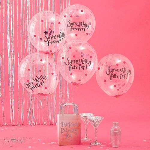 Same Willy Forever Confetti Balloons - Pack of 5