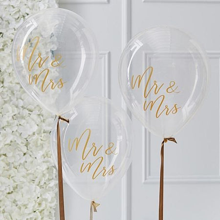 Clear Mr & Mrs Balloons - 12