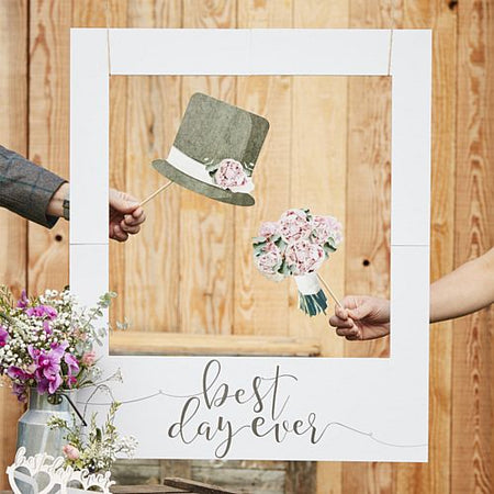 Best Day Ever Photo Booth Frame - 82cm x 60cm