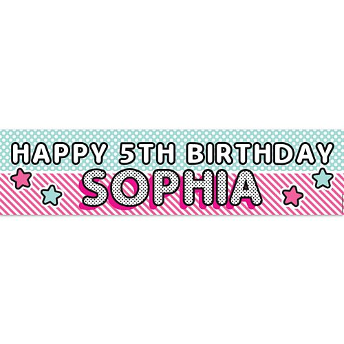 Surprise Birthday Personalised Banner - 1.2m