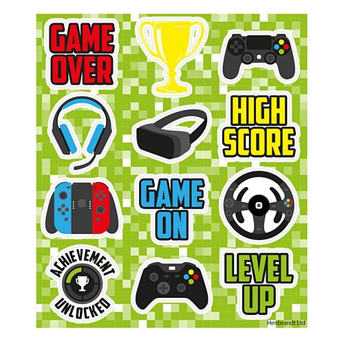 Gamer Stickers - 11.5cm - Each
