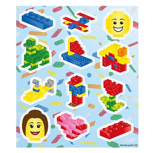 Building Blocks Stickers - 11cm - Pack of 12