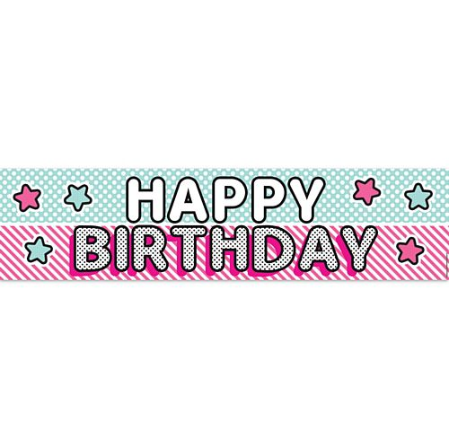 Surprise Birthday Happy Birthday Banner - 1.2m