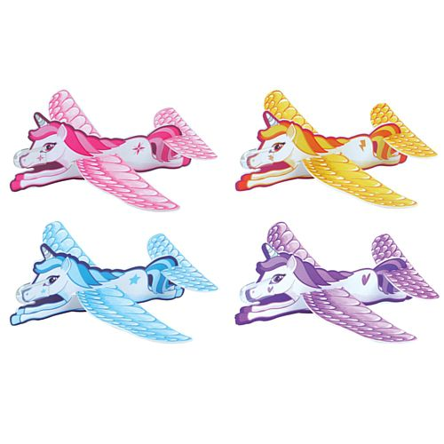 Unicorn Glider - Assorted Designs - 18cm - Each