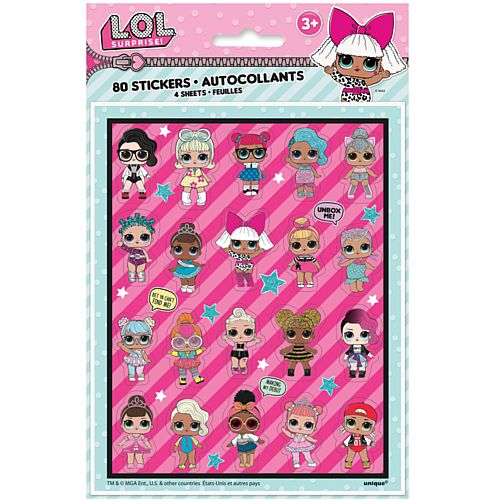 Lol Surprise Sticker Sheets - Pack of 4