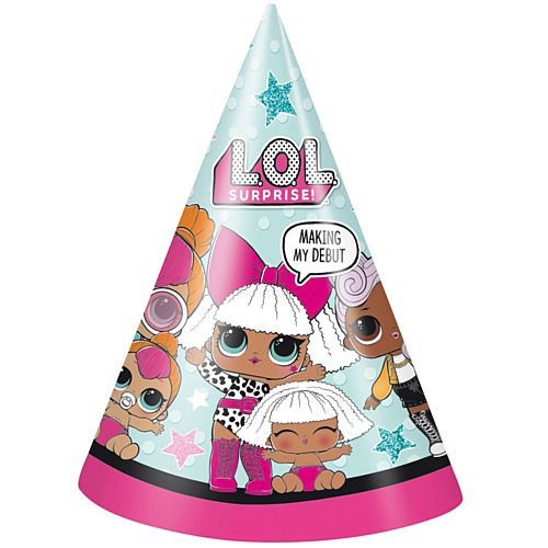 Lol Surprise Party Hats - Pack of 8