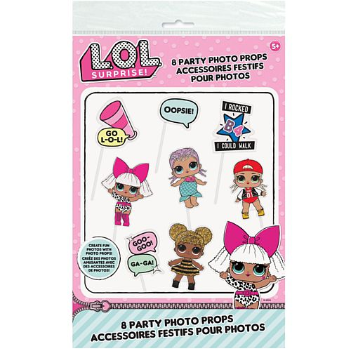 Lol Surprise Photo Props - Pack of 8