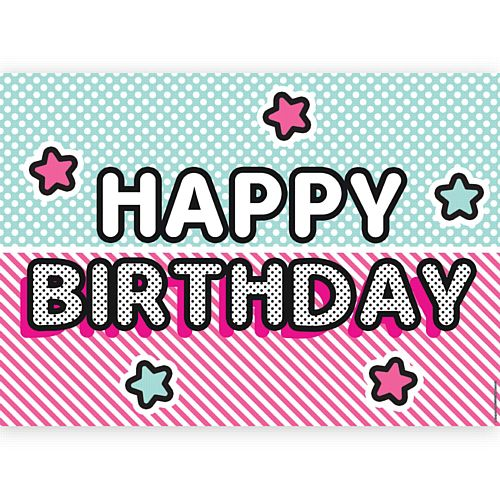 Surprise Birthday Happy Birthday Poster - A3