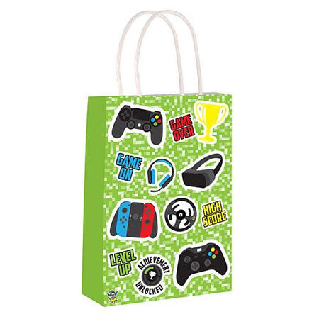 Gamer Paper Party Bags - 21cm - Each