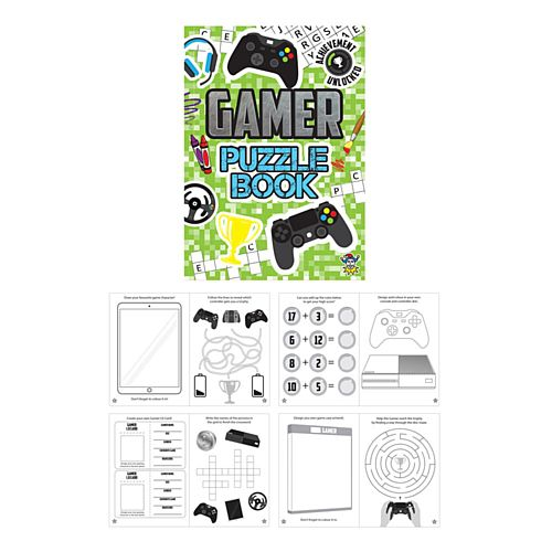 Gamer Puzzle Book - 14.5cm - Each