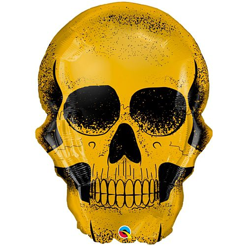 Gold Skull Foil Balloon