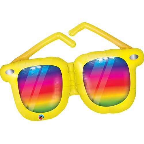 Rainbow Striped Sunglasses Balloon - 42""