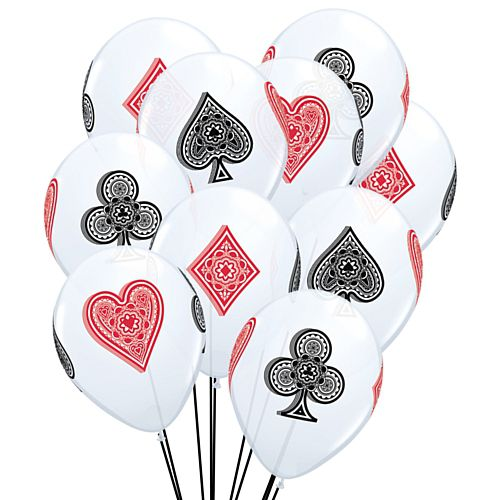 "Card Suit Latex Balloons - 11"" - Pack of 10"