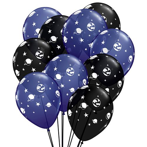 "Celestial Fun Space Latex Balloons - 11"" - Pack of 10"