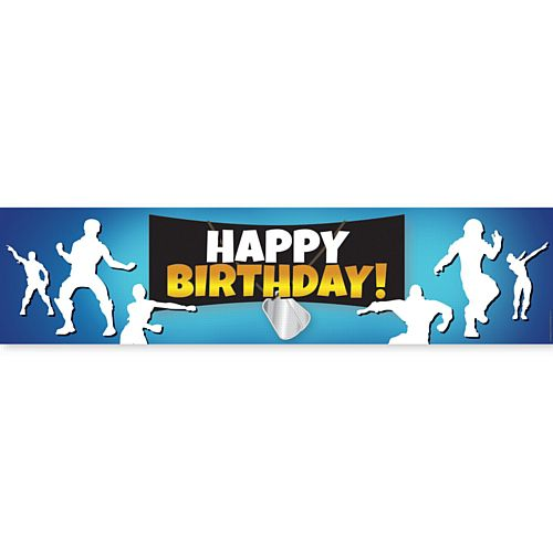 Battle Royale Happy Birthday Banner - 1.2m