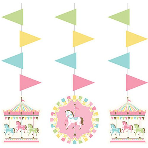 Carousel Hanging Cutouts - 93cm - Pack of 3