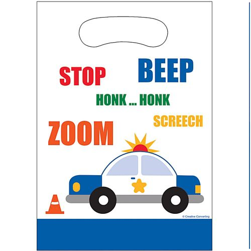 Cars and Trucks Party Bags - 23cm - Pack of 8