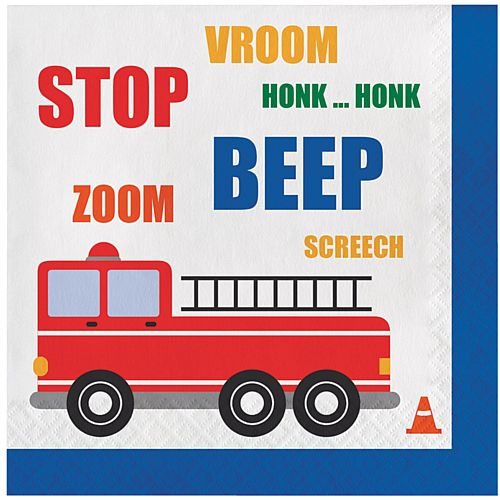 Cars and Trucks Lunch Napkins - Pack of 16