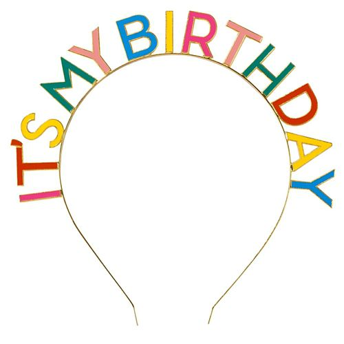 Birthday Brights Rainbow 'It's My Birthday' Metal Headband