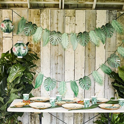 Tropical Palm Leaf Garland - 1.5m