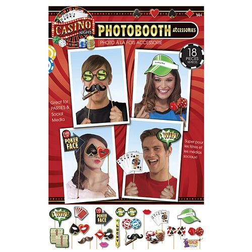 Casino Photo Booth Props - Pack of 18