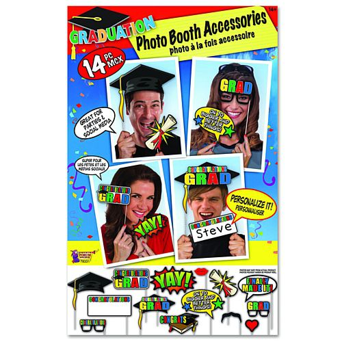 Graduation Photo Booth Props - Pack of 14