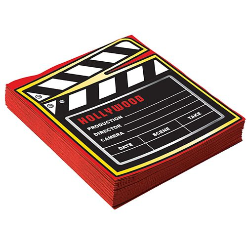 At the Movies Napkins - 33cm - Pack of 16