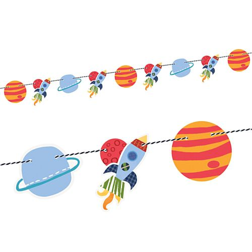 Outer Space Cutout Garland - 1.5m