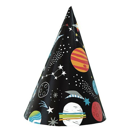 Outer Space Party Hats - Pack of 8