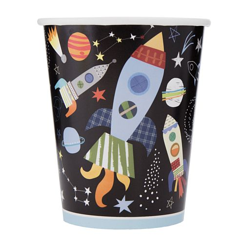 Outer Space Paper Cups - 9oz  - Pack of 8