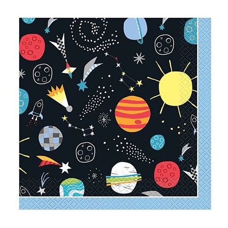 Outer Space Luncheon Napkins - Pack of 16