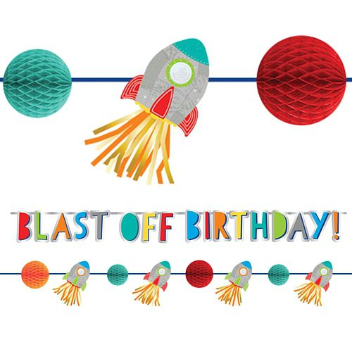 Blast Off Birthday Letter Banner Kit - Pack of 2