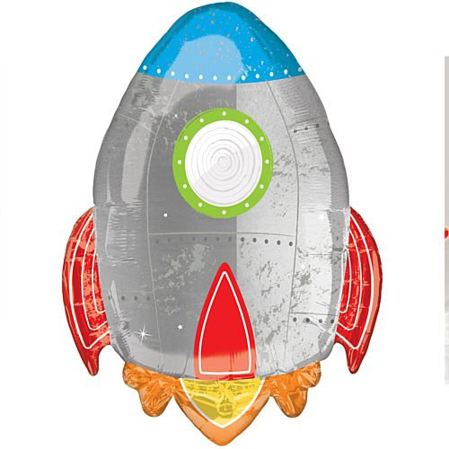Blast Off Birthday Supershape Foil Balloon - 73cm