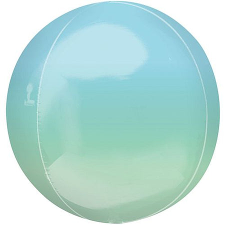 Ombre Blue and Green Orbz Foil Balloon - 38cm