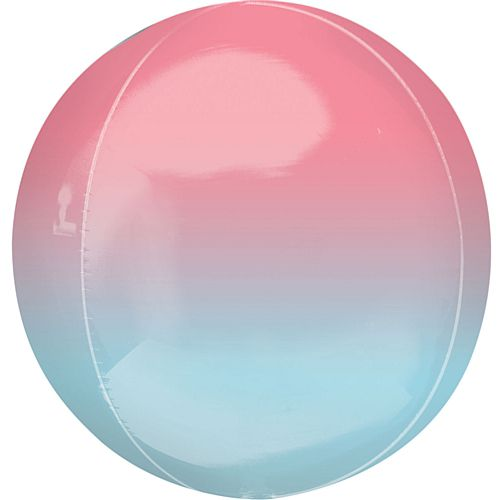 Ombre Red and Blue Orbz Foil Balloon - 38cm