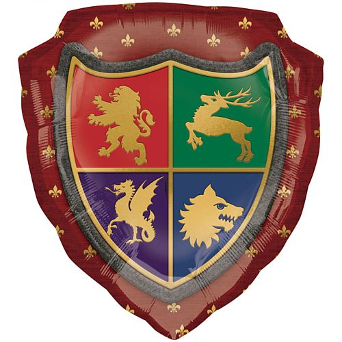 Medieval Shield Supershape Foil Balloon - 68cm