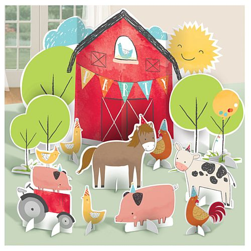 Barnyard Birthday Table Decoration Kit - 11 pieces