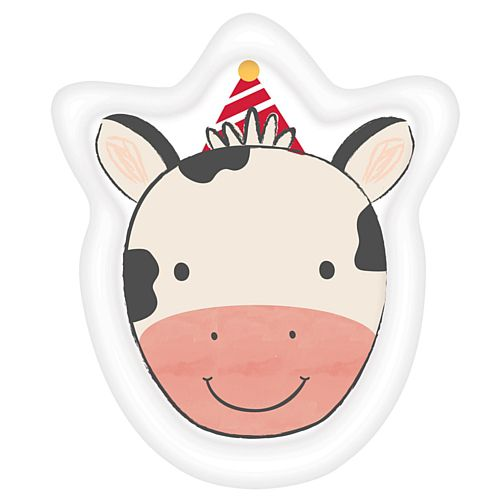 Barnyard Birthday Cow Shaped Paper Plates - 18cm - Pack of 8