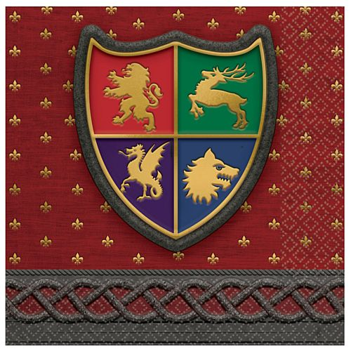 Medieval Luncheon Napkins - 33cm - Pack of 16