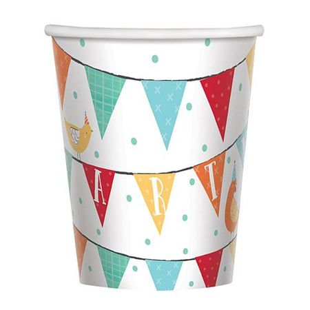 Barnyard Birthday Paper Cups - 266ml - Pack of 8