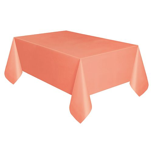 Coral Plastic Tablecloth - 2.74m